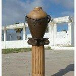 Roman-Greek-Column-pedestal-Antique-Finish-Brown-Color-0-1