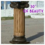 Roman-Greek-Column-pedestal-Antique-Finish-Brown-Color-0