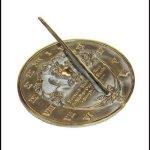 Rome-2329-Thoreau-Sundial-Solid-Brass-with-Verdigris-Highlights-85-Inch-Diameter-0