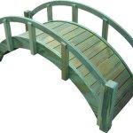 SamsGazebos-Miniature-Japanese-Treated-Wood-Garden-Bridge-29-Inch-Brown-0-1