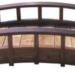 SamsGazebos-Moon-Bridges-Japanese-Style-Arched-Wood-Garden-Bridges-4-Feet-Treated-Brown-0-0