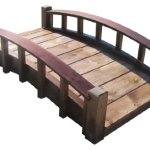 SamsGazebos-Moon-Bridges-Japanese-Style-Arched-Wood-Garden-Bridges-4-Feet-Treated-Brown-0