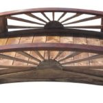SamsGazebos-Sunburst-Wood-Garden-Bridge-6-Feet-Brown-0-1
