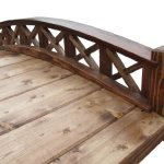 SamsGazebos-Swan-Wood-Garden-Bridge-with-Cross-Halved-Lattice-Railings-4-Feet-Brown-0-0