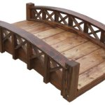 SamsGazebos-Swan-Wood-Garden-Bridge-with-Cross-Halved-Lattice-Railings-4-Feet-Brown-0