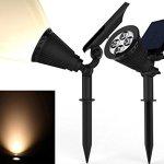 Solar-Spotlights-Kiwii-Warm-Light-2-in-1-Adjustable-4-LED-Wall-Landscape-Solar-Lights-with-Automatic-OnOff-Sensor-2-Pack-0-0
