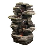 Sunnydaze-Stacked-Shale-Electric-Outdoor-Waterfalll-with-LED-Lights-38-Inch-Tall-0