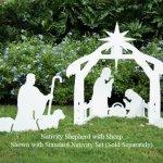 Teak-Isle-Christmas-Outdoor-Nativity-Shepherd-with-Sheep-Figure-0-0