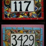Tile-Mosaic-House-Number-Plaque-Address-or-Name-Sign-Custom-Hand-Made-0