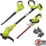 Ryobi-ONE-18-Volt-Lithium-Ion-Cordless-TrimmerBlowerHedge-Combo-Kit-Two-13Ah-Batteries-and-Charger-Include-0