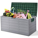 44-Deck-Storage-Box-Outdoor-Patio-Garage-Shed-Tool-Bench-Container-70-Gallon-0-3