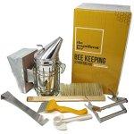 6-Piece-Beekeeping-Supplies-Starters-Kit-Bee-Hive-Smoker-Uncapping-Fork-Tool-Bee-Brush-Frame-Grip-Extracting-Scraper-Bee-Feeder-Tool-0