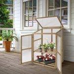 AK-Energy-Mini-Garden-Portable-Wooden-GreenHouse-Cold-Frame-Raised-Plants-Shelves-2-Double-Lock-Doors-0-0