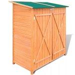 BLXCOMUS-Outdoor-Wooden-Storage-Shed-Garden-Tool-Garage-Storage-Organizer-2-layer-Cabinet-Large-Room-With-Size543-x-258-x-63Double-DoorLockable-Door-Latches-0-0
