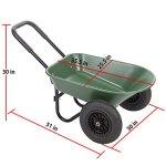 BMS-Flat-Free-Yard-Garden-Rover-Wheelbarrow-2-Tire-Wheelbarrow-Garden-Cart-BestMassage-0-0