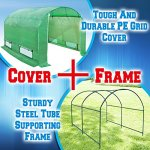 BenefitUSA-GH055-Larger-Walk-Canopy-Gazebo-Outdoor-Gardening-Greenhouse-10x7x6-Green-0
