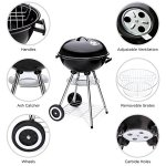 Best-Choice-Products-18in-Portable-Steel-Charcoal-Barbecue-BBQ-Grill-for-Patio-Picnic-Tailgate-wHeat-Control-Black-0-1