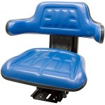 Blue-FordNew-Holland-6000-6600-6610-7000-7100-7200-7600-7610-7700-TRAC-Brand-Waffle-Style-Universal-Tractor-Suspension-SEAT-0