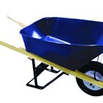 Bon-28-700-Premium-Contractor-Grade-Steel-Single-Wheel-Wheelbarrow-with-Wood-Handle-and-Flat-Free-Tire-6-Cubic-Feet-0