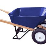 Bon-28-703-Premium-Contractor-Grade-Steel-Double-Wheel-Wheelbarrow-with-Wood-Handle-and-Ribbed-Tire-6-Cubic-Feet-0