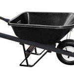 Bon-28-910-Premium-Contractor-Grade-Poly-Tray-Single-Wheel-Wheelbarrow-with-Steel-Handle-and-Flat-Free-Tire-5-34-Cubic-Feet-0