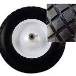 Bon-28-977-10-Cubic-Foot-Poly-Tray-Premium-Landscape-Wheelbarrow-Steel-Handle-Double-Wheel-Flat-Free-Tire-0-0