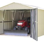 Commander-10×15-Hot-Dipped-Galvanized-Steel-Eggshell-High-Gable-713-Wall-Height-Extra-Wide-Swing-Doors-0-1