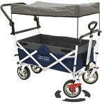 Creative-Outdoor-Distributor-Push-Pull-Wagon-for-Kids-Foldable-with-SunRain-Shade-Navy-Blue-0
