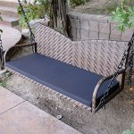 Espresso-52-Patio-Porch-Swing-Chair-Resin-Wicker-Tree-Ceiling-Hanger-Hanging-WChains-0-0