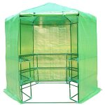 Festnight-Patio-Hexagonal-3-Tier-Shelf-Walk-in-Portable-Garden-Greenhouse-75-0-2