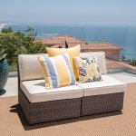 GDF-Studio-Santa-Cruz-Outdoor-Hazelnut-Brown-Wicker-Armless-Sectional-Sofa-Seat-with-Beige-Water-Resistant-Cushions-Set-of-2-by-Christopher-Knight-Home-0
