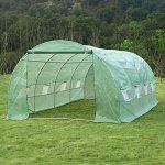 GHP-Outdoor-197Lx98Wx66H-Deep-Green-PE-Cloth-Walk-in-Greenhouse-w-8-Windows-0