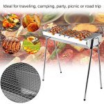 GOGOUP-BarbecueBBQ-Charcoal-Grill-Stainless-Steel-Folding-Portable-BBQ-Tool-Kits-for-Outdoor-PartyCookingCampingHikingPicnicsTailgatingBackpacking-etc-0-0