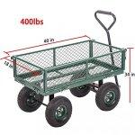Garden-Carts-Wagons-Heavy-Duty-Utility-Outdoor-Steel-Beach-Lawn-Yard-Buggy-0-0