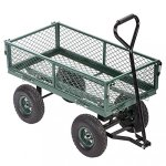 Garden-Carts-Wagons-Heavy-Duty-Utility-Outdoor-Steel-Beach-Lawn-Yard-Buggy-0