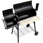 Giantex-BBQ-Grill-Charcoal-Barbecue-Pit-Patio-Backyard-Home-Meat-Cooker-Smoker-with-Offset-Smoker-Black-0-2