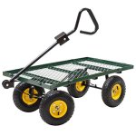 Heavy-Duty-Outdoor-Utility-Garden-Farm-Cart-Wagon-Flatbed-Steel-Trailer-w-Liner-0