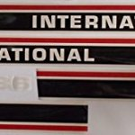 I1586RC-Hood-Decal-Set-wCab-Red-Stripe-Made-For-International-Tractor-1586-0