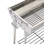 ISUMER-Portable-Folding-Charcoal-BBQ-Grill-Stainless-Steel-Thickened-Barbeque-Grill-for-Home-Garden-Backyard-Tailgate-Party-Camping-Picnic-Cooking-0-2