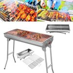 JT-Barbecue-Charcoal-Grill-BBQ-Folding-Stove-Shish-Kabob-Stainless-Steel-for-Patio-Camping-0-0