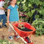 Kids-Garden-Wheelbarrow-Yard-Tools-for-Children-Red-with-Wood-Handles-Steel-Braces-Solid-Tire-33-L-x-17-W-x-1575-H-0-0