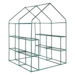 Livebest-3-Tier-8-Shelf-Mini-Walk-In-Greenhouse-Portable-Outdoor-Garden-Green-House56x56x77in-0-2