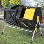 Miracle-Gro-Large-Dual-Chamber-Compost-Tumbler–Easy-Turn-Fast-Working-System–All-Season-Heavy-Duty-High-Volume-Composter-with-2-Sliding-Doors-FREE-Scotts-Gardening-Gloves-2–277gal105L-0-0
