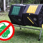 Miracle-Gro-Large-Dual-Chamber-Compost-Tumbler–Easy-Turn-Fast-Working-System–All-Season-Heavy-Duty-High-Volume-Composter-with-2-Sliding-Doors-FREE-Scotts-Gardening-Gloves-2–277gal105L-0-1