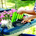 Original-Little-Burro-USA-made-lawngarden-tray-for-all-4-6-cu-ft-wheelbarrows-Holds-rake-shovel-short-handle-tools-drinks-water-tight-storage-for-phone-Wheelbarrow-not-included-Great-gift-0-1