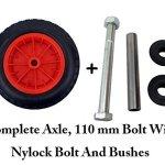 PU-14-Puncture-Proof-RED-Wheelbarrow-Wheel-Tyre-350-8-foam-filled-AXLE-by-Keto-Plastics-0