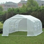 Portable-Greenhouse-11-x-10-x-7-Walk-In-Flowers-Plant-Outdoor-Garden-White-With-Ebook-0-0