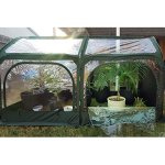 Quictent-Pop-up-Greenhouse-Fiberglass-Poles-Updated-Extra-Thick-Cover-Outdoor-Garden-Flower-Mini-Green-House-4-Doors-2-Vents-98x49x53-Green-0-0