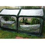 Quictent-Pop-up-Greenhouse-Fiberglass-Poles-Updated-Extra-Thick-Cover-Outdoor-Garden-Flower-Mini-Green-House-4-Doors-2-Vents-98x49x53-Green-0-2