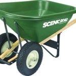 Scenic-Road-G8-2k-Red-Wheelbarrow-With-Dual-4-Ply-Knobby-Tires-8-Cuft-0